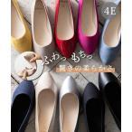 やわらかカッターシューズ 靴(シューズ) (低反発中敷)(ワイズ4E)23.0cm-26.5cm 幅広 30代 40代 50代 女性 大きいサイズ レディース エナメル スエード