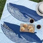 風呂敷 ふろしき むす美 100×100cm アクアドロップ 撥水加工 ナガスクジラ ブルー 10244-302 大判 サイズ おしゃれ かわいい メール便 送料無料