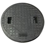 鋳鉄製 (耐荷重:約2t)乗用車荷重マンホール(普及型)蓋のみ 穴径600mm MK-1-600【代引き不可】/浄化槽用/汚水蓋/一般家庭/浄化槽 蓋 枠