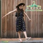 半袖ワンピース 韓国子供服 夏 花柄 女の子 ノースリーブ フレア 子供服 キッズ 女の子