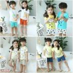 ショッピングパジャマ パジャマ キッズ 夏 半袖 子供服 女の子 男の子 ルームウェア パジャマセット韓国子供服