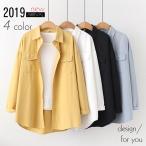 レディース ファッション シャツ 綿 長袖 襟付き 羽織 シンプル カジュアル 30代 40代 50代