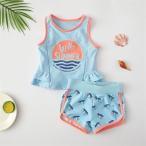 子供 水着 キッズ 女の子 スイミング 夏 子供服 2点セット セパレート こども タンキニ ショートパンツ 海パン みずぎ おしゃれ 温泉 海水浴 水遊び 可愛い 新品