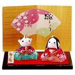 桃の節句 ひな人形 華やぎ 硝子 座雛(大) HK730