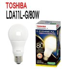 Yahoo!住まいるライト【お得な10台セット】LED電球 E26口金 一般電球形 全方向タイプ 白熱電球80W形相当 電球色 TOSHIBA(東芝ライテック) LDA11L-G/80W 【LDA11LG80W】