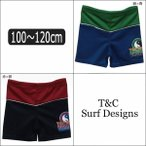 子供 水着 男の子 733122 タウカン スイムパンツ 緑×青 赤×紺 100cm 110cm 120cm T&C Surf Designs