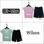 こども服 半袖 Tシャツ ジャージ 上下セット 女の子 吸汗速乾 WJ6014 130cm 140cm 150cm 160cm 19ピンク 27ミント Wilson ウイルソン