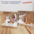 ドライフラワー アニマル スタンド セット フラワーベース 花瓶 くま きりん 雑貨 ミニブーケ 置物 印鑑立て ペン立て 動物 ベアー 一輪挿し 花びん 飾り