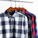 ボタンダウンシャツ メンズ 長袖 ロゴ刺繍 チェック柄 カジュアル アメカジ 柔らかい トップス 新作