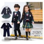 子供服 女の子 男の子 フォーマル 制服 4点セット 上下セット 卒業式 入学式 制服ディズニー ジュニア服
