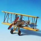 ブリキのおもちゃ 飛行機 (複葉イエロー) 27136