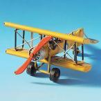 ブリキのおもちゃ 飛行機 (複葉イエロー) ミニ 27445