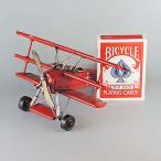 ブリキのおもちゃ 飛行機 (三葉レッド) ミニ 27448