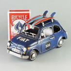 ブリキのおもちゃ FIAT フィアット (ネイビー) ミニ 27467