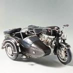 ブリキのおもちゃ バイク サイドカー BMW (ブラック) 27520