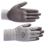 BD501 ノンカットグリップ(10双) ガラスや刃物などの切裂きに強いPUコート手袋 プリカチューブ電線管のカット ヨーロッパCE規格(EN388)レベル5 富士グローブ
