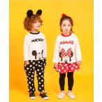 韓国子供服 トレーナー セットアップ  Disney ドット  男の子 女の子 スカート付きレギンス 子供服 キッズ おしゃれ ドット柄パンツ