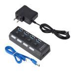 USBハブ 3.0  AC電源付き 4ポート 充電 セルフパワー  usbコンセント 高速 バスパワー acアダプター 送料無料 ポイント消化