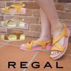 リーガル REGAL 靴 レディース サンダル F56E カジュアル スポーティー スポーツミックス ローヒール 夏  ブラウン ライトグレー イエロー