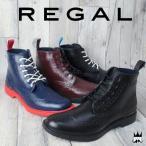 リーガル REGAL 靴 メンズ レインシューズ 71HR RAIN SHOES ウイングチップ レースアップ レインブーツ ショート丈
