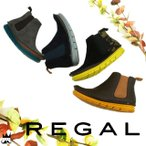 リーガル REGAL 靴 レディース F25G サイドゴア ブーツ 牛革 ベロア スムース 牛毛 ショートブーツ アンクル スポーツ感 ローヒール ぺたんこ