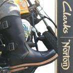 ショッピングクラークス クラークス×ノートン Clarks×Norton 靴 メンズ ブーツ 26103105 ノートンジップ NORTONZIP レザー エンジニア バイク バイカー ツーリング
