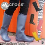 クロックス crocs レディース レインブーツ 12424 rain floe boot レインフローブーツ 折りたたみ  グレー レッド ブラック エスプレッソ