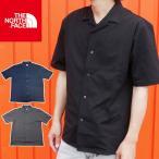 ザ・ノースフェイス THE NORTH FACE アパレル メンズ NR21990 S/S オープンカラーニットシャツ 襟付き ウェア 半袖 服 ボックス トップス 黒 グレー 灰