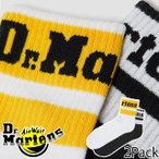ドクターマーチン Dr.Martens メンズ レディース 靴下 ショート アスレティック 2 パック ソックス ショート丈 2足セット AD036101 マルチ 黒 白