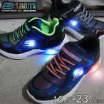 スケッチャーズ SKECHERS 光る靴 スニーカー 男の子 子供靴 キッズ ジュニア ライトアップシューズ Sライツ-ERUPTERS3-DERLO ベルクロ 90563L