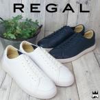 リーガル REGAL 靴 メンズ スニーカー 56KR カジュアルシューズ ローカット レースアップシューズ レザースニーカー   ホワイト ネイビー