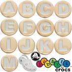 クロックス crocs ジビッツ Jibbitz ゴールドレター アクセサリー シューチャーム ラバークロック用アクセサリー アルファベット A〜M