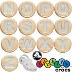クロックス crocs ジビッツ Jibbitz ゴールドレター アクセサリー シューチャーム ラバークロック用アクセサリー アルファベット N〜Z