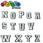 クロックス crocs ジビッツ jibbitz letter キッズ メンズ レディース アルファベット N〜Z ラバークロッグ用アクセサリー シューチャーム