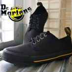 ドクターマーチン Dr.Martens メンズ レディース プレスラー キャンバススニーカー ローカット 4ホールシューズ 紐靴 ブラック 黒 21951001