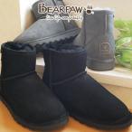 ベアパウ BEARPAW ムートンブーツ レディース デミ DEMI ショートブーツ スノーブーツ ウインターブーツブラック 黒 チャコール 619W