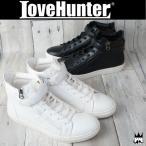 ラブハンター LOVE HUNTER 靴 メンズ スニーカー 1876 飾りバックジップベルクロハイカットスニーカー メンナク系 お兄系 フェイクファスナー
