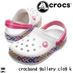 クロックス crocs 女の子 子供靴 キッズ ジュニア クロッグサンダル 205171-159 クロックバンド ギャラリー クロッグ k アクアサンダル oyster オイスター