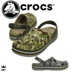 ショッピングサボ クロックス crocs 靴 クロックバンド カモ クロッグ レディース メンズ 203191 クロッグサンダル アクアサンダル コンフォート カモフラージュ 迷彩柄