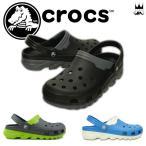 ショッピングサボ クロックス crocs 靴 デュエット マックス クロッグ メンズ サンダル 201398 アクアサンダル クロッグ 夏 水辺  ブラック オーシャン グラファイト