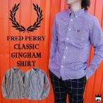 フレッドペリー FRED PERRY 靴 メンズ アパレル M6377J クラシック ギンガム シャツ ボタンダウン ワイシャツ Yシャツ 月桂樹 ローレル