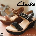 ショッピングクラークス クラークス Clarks レディース ウェッジソール サンダル 023G Aisley Orchid オーキッド 本革 レザー ストラップ ウェッジヒール 厚底 約8cmヒール 美脚