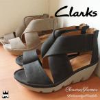 ショッピングクラークス クラークス Clarks レディース サンダル ウェッジソール 028g Clarene Glamor クラリーヌグラーモ 本革 レザー ウェッジヒール 厚底 バックファスナー