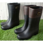 レディース レインブーツ ロング ミドル ベルト 長靴 雨具 T-020 レインシューズ ロングブーツ ミドルブーツ ラバーブーツ 雨 雪 ヒール約4cm きれいめ 台風