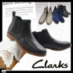 クラークス Clarks レディース サイドゴアブーツ 本革 レザー 724F テイラー シャイン Taylor Shine ショートブーツ ブラック ネイビー グレー