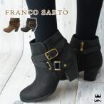 フランコサルト FRANCO SARTO レディース ブーツ D10C ショートブーツ 本革 レザー 本革ブーツ 牛革 ヌバック チャンキーヒール 太ヒール サイドファスナー