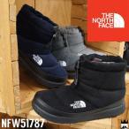 ザ・ノースフェイス THE NORTH FACE レディース スノーブーツ ウィンターブーツ NFW51787 W ヌプシ ブーティー ウール II ショート 撥水 保温 防寒 黒 グレー