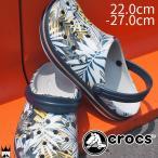 クロックス crocs クロッグバンド グラフィック クロッグ クロッグサンダル メンズ レディース 204553 白 ホワイト ネイビー 海 キャンプ プール コンフォート