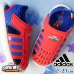 アディダス adidas 男の子 子供靴 キッズ ジュニア マーベル MARVEL コラボ スパイダーマン サンダル ウォーターサンダル FY8960 サマーシューズ レッド ブルー