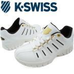 ケースイス K-SWISS メンズ レディース スニーカー KSL02 ローカット エバー 定番 ホワイト/ダークブラウン/ゴールド